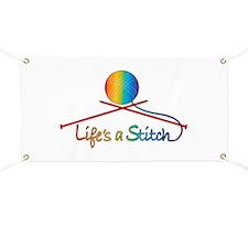 Life's a Stitch Banner