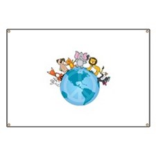Peace on Earth Animals Banner