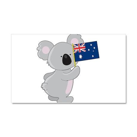 Koala Australian Flag Car Magnet 20 x 12