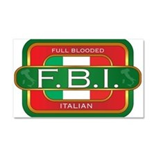 Full Blooded Italian Car Magnet 20 x 12