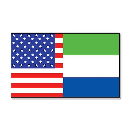 USA/Sierra Leone Car Magnet 20 x 12