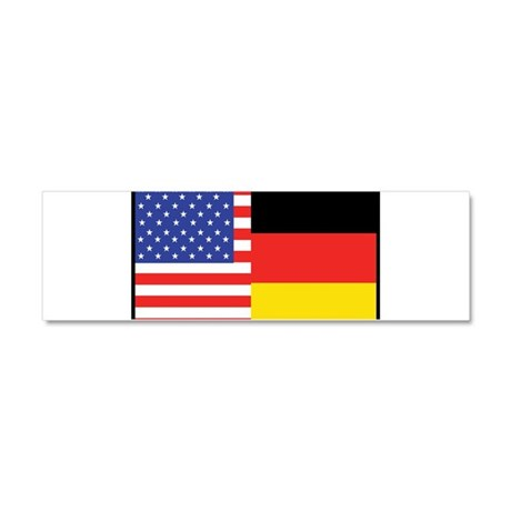 USA/Germany Car Magnet 10 x 3