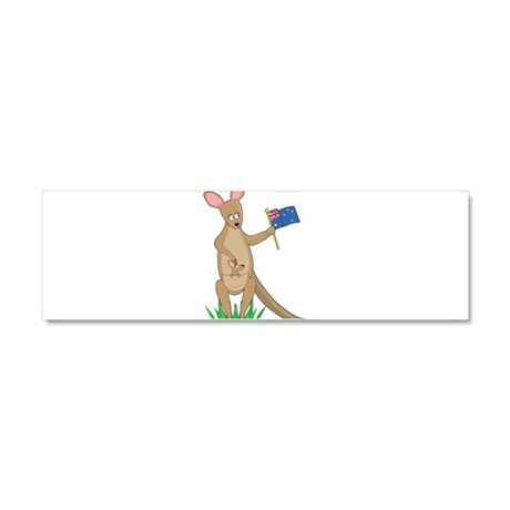 Animal Alphabet Kangaroo Car Magnet 10 x 3