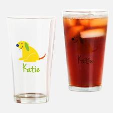 Katie Loves Puppies Drinking Glass