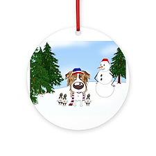 Aussie Snow Ornament (Round)