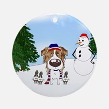 Aussie Snow Ornament (Round)