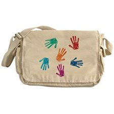 Hand Prints Messenger Bag