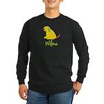 Wilma Loves Puppies Long Sleeve Dark T-Shirt