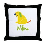 Wilma Loves Puppies Throw Pillow
