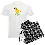 Wilma Loves Puppies Men's Light Pajamas