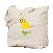 Agnes Loves Puppies Tote Bag
