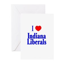 I Love Indiana Liberals Greeting Cards (Package of