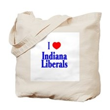 I Love Indiana Liberals Tote Bag