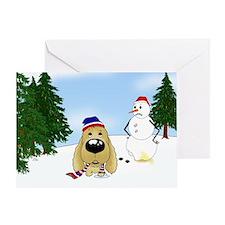 Cocker Spaniel Snow Greeting Card