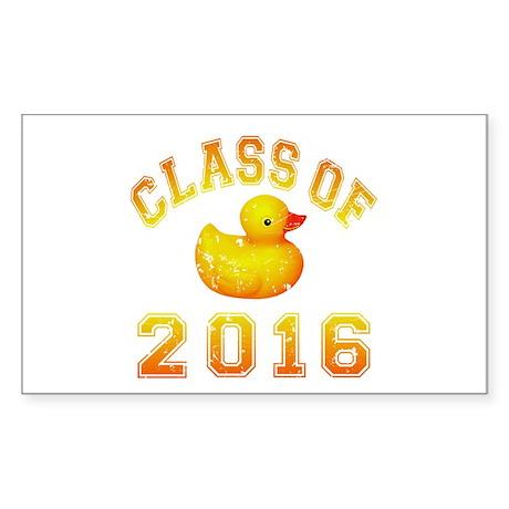 Class Of 2016 Duckie Sticker (Rectangle)