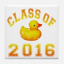 Class Of 2016 Duckie Tile Coaster