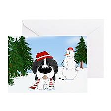Newfie Winter Wonderland Greeting Card