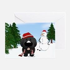 Newfie Winter Wonderland Greeting Card