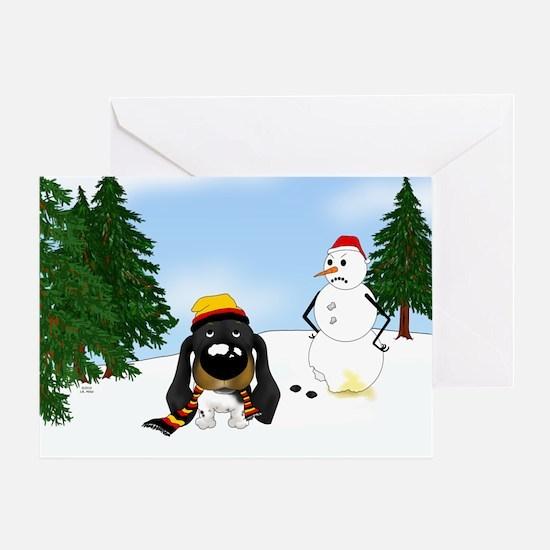 Doxie Winter Wonderland Greeting Card