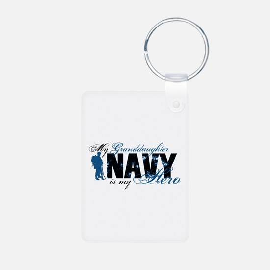 Granddaughter Hero3 - Navy Keychains
