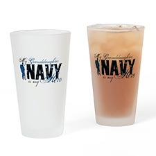 Granddaughter Hero3 - Navy Drinking Glass