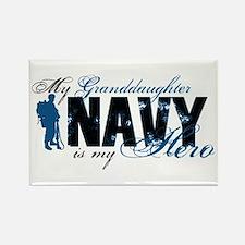 Granddaughter Hero3 - Navy Rectangle Magnet