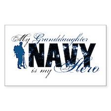 Granddaughter Hero3 - Navy Decal