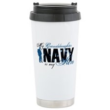 Granddaughter Hero3 - Navy Travel Mug
