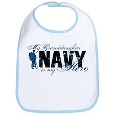 Granddaughter Hero3 - Navy Bib