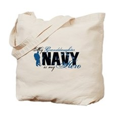 Granddaughter Hero3 - Navy Tote Bag
