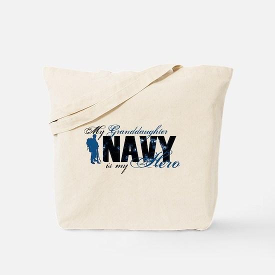 Granddaughter Hero3 - Navy Tote Bag