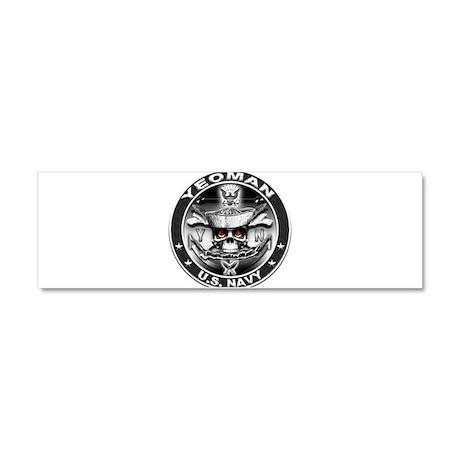USN Yeoman Skull YN Dont Trea Car Magnet 10 x 3
