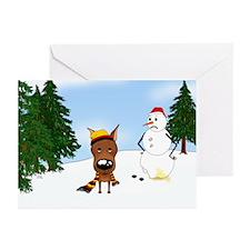 Miniature Pinscher Snow Greeting Cards (Pk of 20)