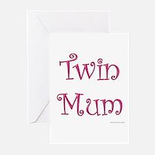 Twin Mum - Pink Greeting Cards (Pk of 10)