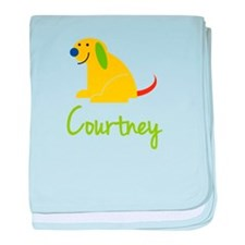 Courtney Loves Puppies baby blanket