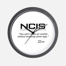 NCIS Ziva Omelet Quote Wall Clock