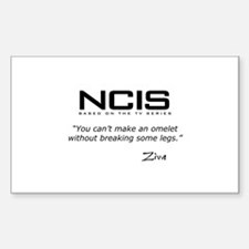 NCIS Ziva Omelet Quote Sticker (Rectangle)