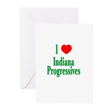 I Love Indiana Progressives Greeting Cards (Packag