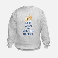 Keep Calm and Spin the Dreidel Sweatshirt