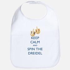 Keep Calm and Spin the Dreidel Bib