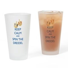 Keep Calm and Spin the Dreidel Drinking Glass