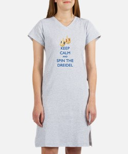 Keep Calm and Spin the Dreidel Women's Nightshirt