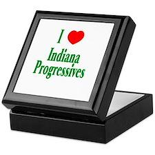 I Love Indiana Progressives Keepsake Box