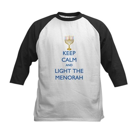 Keep Calm and Light the Menorah Kids Baseball Jers