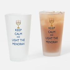 Keep Calm and Light the Menorah Drinking Glass