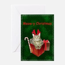 Meow-y Christmas Greeting Card