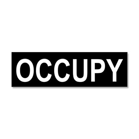 Occupy Wall Street: Car Magnet 10 x 3