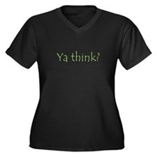 NCIS Ya Think? Women's Plus Size V-Neck Dark T-Shi
