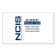 NCIS Gibbs' Rule #23 Decal