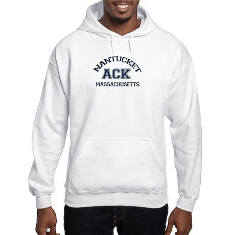 Nantucket MA - Varsity Design Hooded Sweatshirt